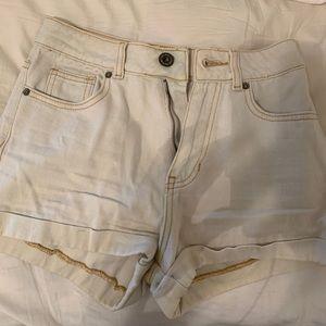 White Mom jean shorts